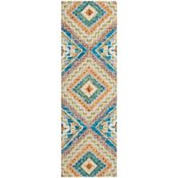"Nourison Vibrant 2'3"" x 7'6"" Hand Tufted Runner in Ivory"