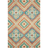 "Nourison Vibrant 8' x10'6"" Hand Tufted Area Rug in Ivory"