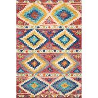 """Nourison Vibrant 5' x7'6"""" Hand Tufted Multicolor Area Rug"""