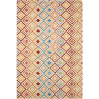 """Nourison Vibrant 5' x7'6"""" Hand Tufted Area Rug in Ivory"""