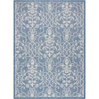 "Nourison Country Side 9'6"" x 13' Machine Woven Area Rug in Denim"