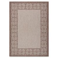 "Nourison Country Side 5'3"" x 7'3"" Machine Woven Area Rug in Natural"