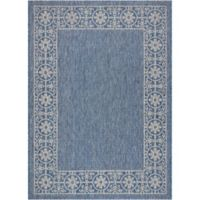 """Nourison Country Side 9'6"""" x 13' Machine Woven Area Rug in Denim"""
