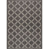 "Nourison Country Side 9'6"" x 13' Machine Woven Area Rug in Charcoal"