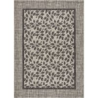 "Nourison Country Side 3'6"" x 5'6"" Machine Woven Area Rug in Ivory/Charcoal"