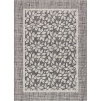 "Nourison Country Side 3'6"" x 5'6"" Machine Woven Area Rug in Charcoal"
