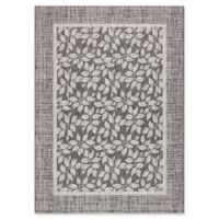 "Nourison Country Side 5'3"" x 7'3"" Machine Woven Area Rug in Charcoal"