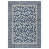 "Nourison Country Side 5'3"" x 7'3"" Machine Woven Area Rug in Denim"