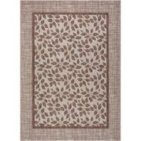 "Nourison Country Side 7'10"" x 10'6"" Machine Woven Area Rug in Natural"