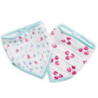 aden® by aden + anais® 2-Pack Summer Soiree Bandana Bibs in Pink/Blue