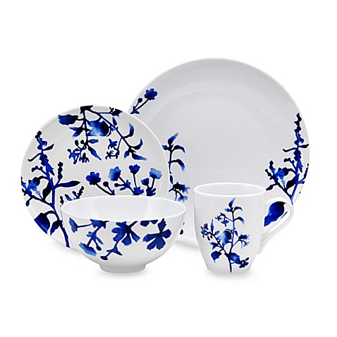 Oneida® 16-Piece Dinnerware Set in Tranquility Blue - Bed Bath & Beyond