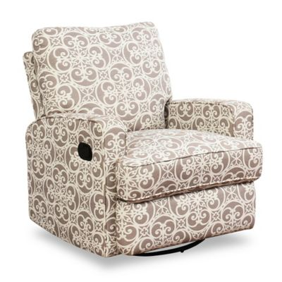 Recliners \u003e Abbyson Living Lily Swivel Glider Recliner in Grey Floral  sc 1 st  buybuy BABY & Abbyson Living Gliders Rockers \u0026 Recliners from Buy Buy Baby islam-shia.org