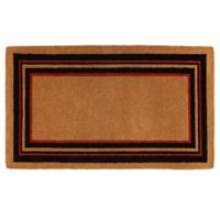 Home & More Esquire 18-Inch x 30-Inch Door Mat in Black/Red