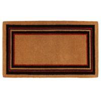 Home & More Esquire 24-Inch x 36-Inch Door Mat in Black/Red