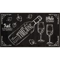 Nourison Love Wine 26-Inch x 45-Inch Door Mat in Black