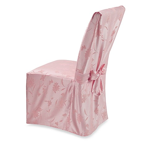 Spring Meadow Damask Dining Room Chair Cover - Pink
