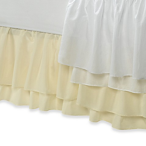 Tiered Voile Bed Skirt Bed Bath Amp Beyond