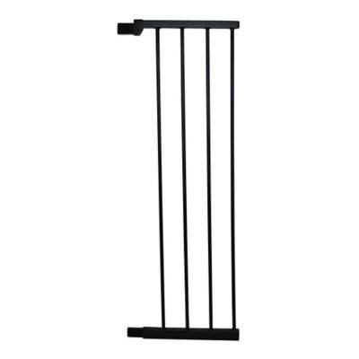 cardinal gates 11inch extra tall gate extension in black