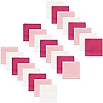Hudson Baby® 24-Pack Woven Washcloths in Pink