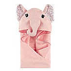 Little Treasures Floral Elephant Hooded Towel in Pink
