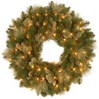National Tree Company Pre-Lit 30-Inch Carolina Pine Wreath