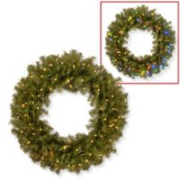 National Tree Company 30-Inch Pre-Lit Norwood Fir Wreath with Dual Color® LED Lights