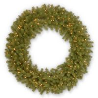National Tree Company 48-Inch Pre-Lit Downswept Douglas Fir Wreath