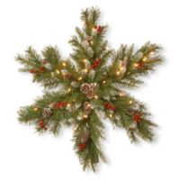 National Tree Company 30-Inch Pre-Lit Frosted Berry Snowflake