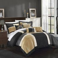 Chic Home Calinda 7-Piece Queen Comforter Set in Black