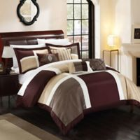 Chic Home Calinda 7-Piece King Comforter Set in Brown