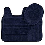 Mohawk Veranda Bath Rugs in Navy (Set of 3)