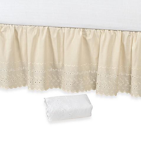 vintage chic™ eyelet 14-inch bed skirt - bed bath & beyond