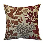 Bristol Square Throw Pillow in Burgundy