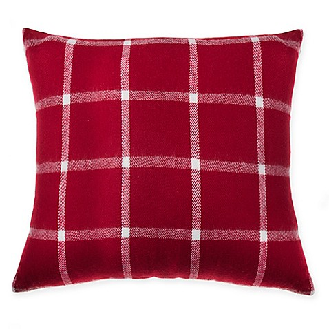 make-your-own-pillow blanket scarf square throw pillow cover in red Make Your Own Throw Pillow Covers