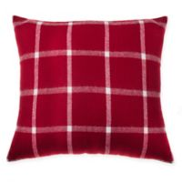 Make-Your-Own-Pillow Blanket Scarf Square Throw Pillow Cover in Red