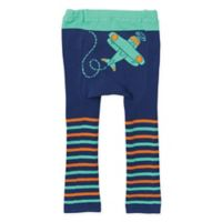 Doodle Pants® X-Small Plane Leggings in Green Stripe