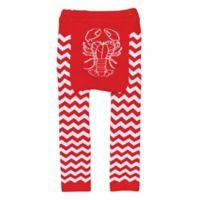Doodle Pants® Medium Lobster Leggings in Red/White