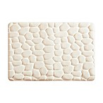 Madison Park Essentials Pebble 20-Inch x 30-Inch Embossed Memory Foam Bath Rug in Ivory