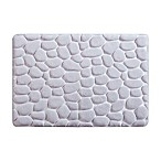 Madison Park Essentials Pebble 20-Inch x 30-Inch Embossed Memory Foam Bath Rug in Grey
