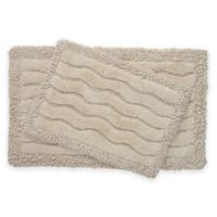 2-Piece Swirl Bath Rug Set in Ivory