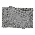 Savoy Shaggy 2-Piece Bath Rug Set in Charcoal