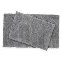 Medallion 2-Piece Bath Rug Set in Charcoal