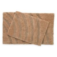 Medallion 2-Piece Bath Rug Set in Taupe