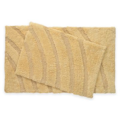 Medallion 2 Piece Bath Rug Set In Yellow