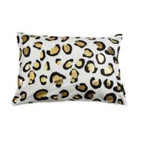 Kensie Aoi Metallic Animal 14-Inch x 20-Inch Oblong Throw Pillow Cover