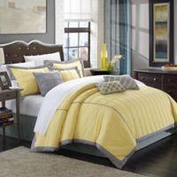 Chic Home Rebecca 8-Piece Queen Comforter Set in Yellow
