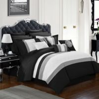 Chic Home Seigel 16-Piece Queen Comforter Set in Black