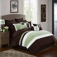 Chic Home Seigel 16-Piece King Comforter Set in Brown