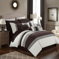 Chic Home Seigel 16-Piece Queen Comforter Set in Beige