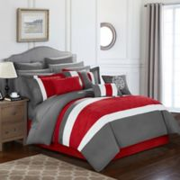Chic Home Seigel 16-Piece King Comforter Set in Red